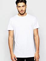 Футболка мужская однотонная, мужская футболка белая