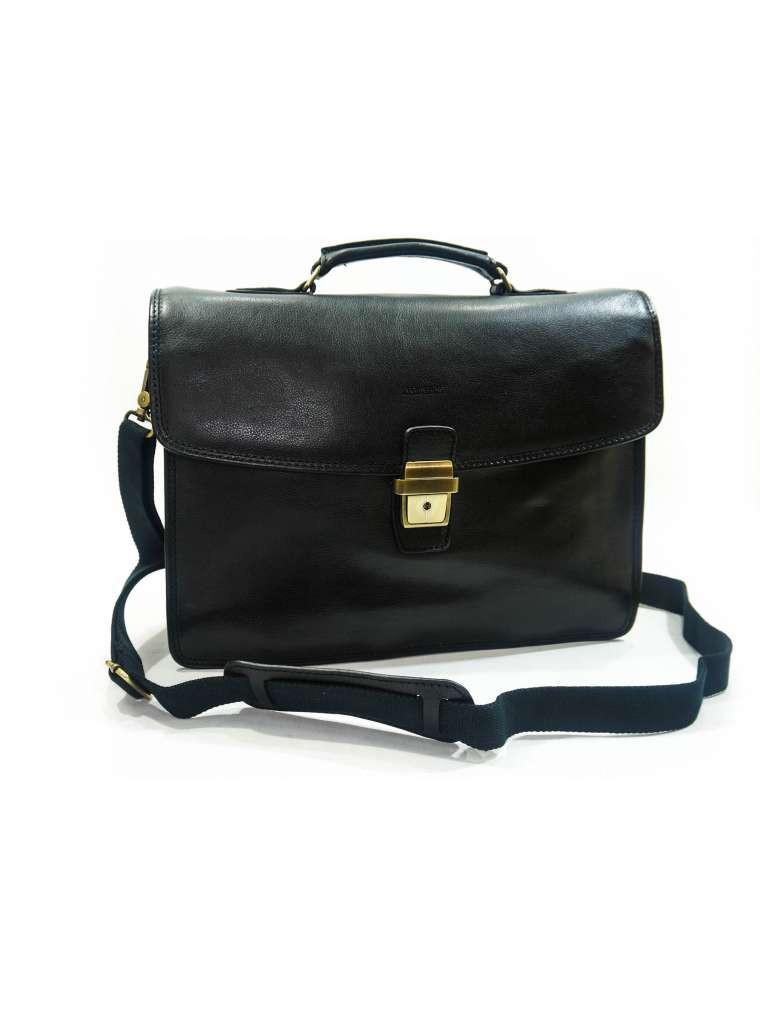 Портфель мужской кожаный чёрный katana 36822