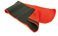 Пояс для похудения  ( р-р L-24см x 105см x 3мм, черный-красный)