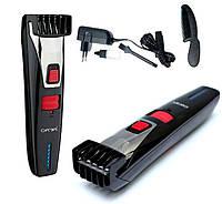Аккумуляторная машинка для стрижки. Триммер для бороды и усов Gemei GM 728, сплав титана, 3 Вт, сухая чистка.