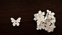 Деревянные Бабочки 3 см*2,5 см*0,3 см, цвет белый