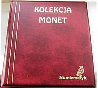 Подарочный альбом для монет Kolekcja 221 ячейка Бордо