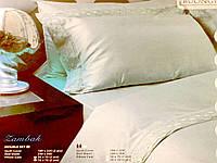 Комплект постільної білизни євро сатин білий Buongiorno, фото 1