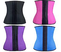 Корректирующий женский пояс KIM KARDASHIAN   ( р-р S-3XL, черный, фиолетовый, синий)