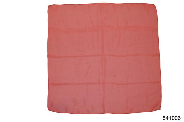 Однотонный коралловый легкий шифоновый платок 2