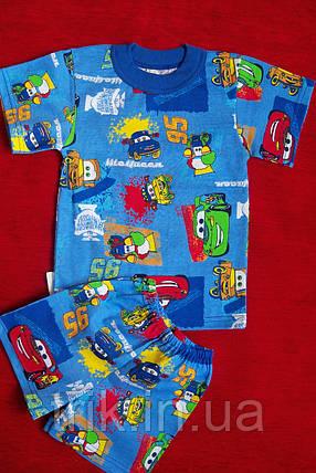Детский хлопковый комплект для мальчика тачки, фото 2