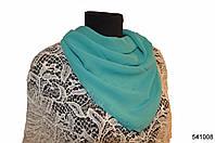 Однотонный бирюзовый шифоновый платок