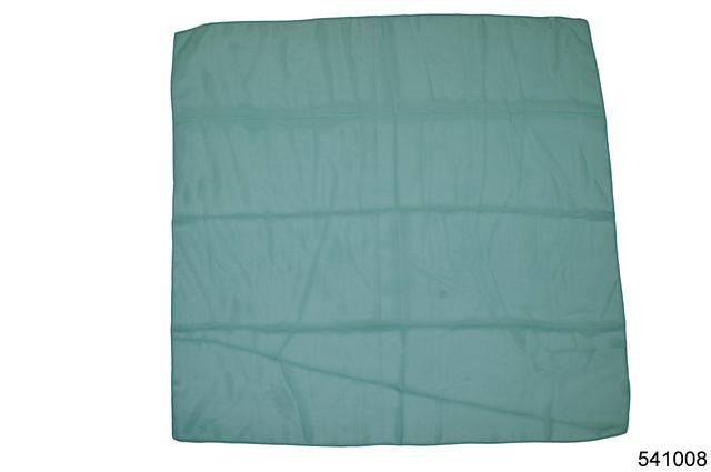 Однотонный бирюзовый легкий шифоновый платок 2