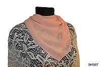 Однотонный персиковый шифоновый платок, фото 1