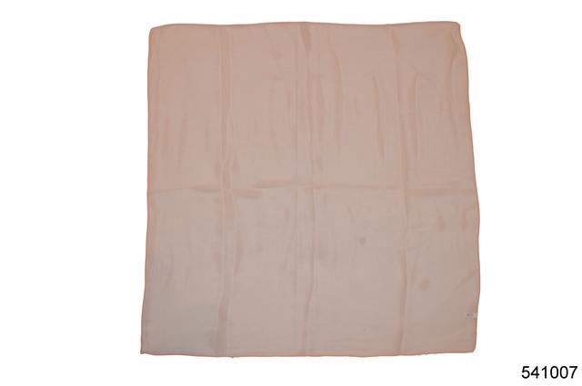 Однотонный персиковый легкий шифоновый платок 2
