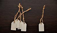 Деревянная Табличка 4см *2,3см *0,3 см подвесная, 1 шт., цвет белый