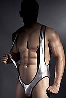 Эротическое боди Anais Fabian S-XXXL черно-серебрянный цвет