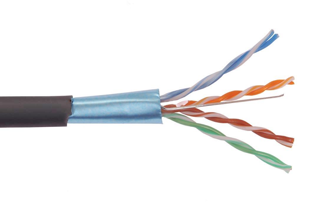 ITK Каб. вп ШПД F/UTP, кат.5E 4х2х0,48мм solid, LDPE, 305м (для внеш. прокладки)