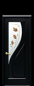 Дверь межкомнатная ПРИМА СО СТЕКЛОМ САТИН И РИСУНКОМ №1