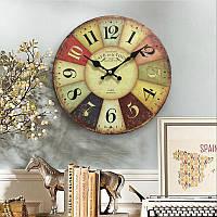 Старинные деревянные настенные часы в античном стиле