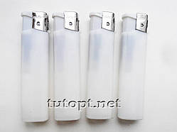 Зажигалка белая New Top Lighters 3869 заправляющаяся