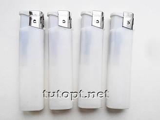 Зажигалка белая New Top Lighters 3869 заправляющаяся