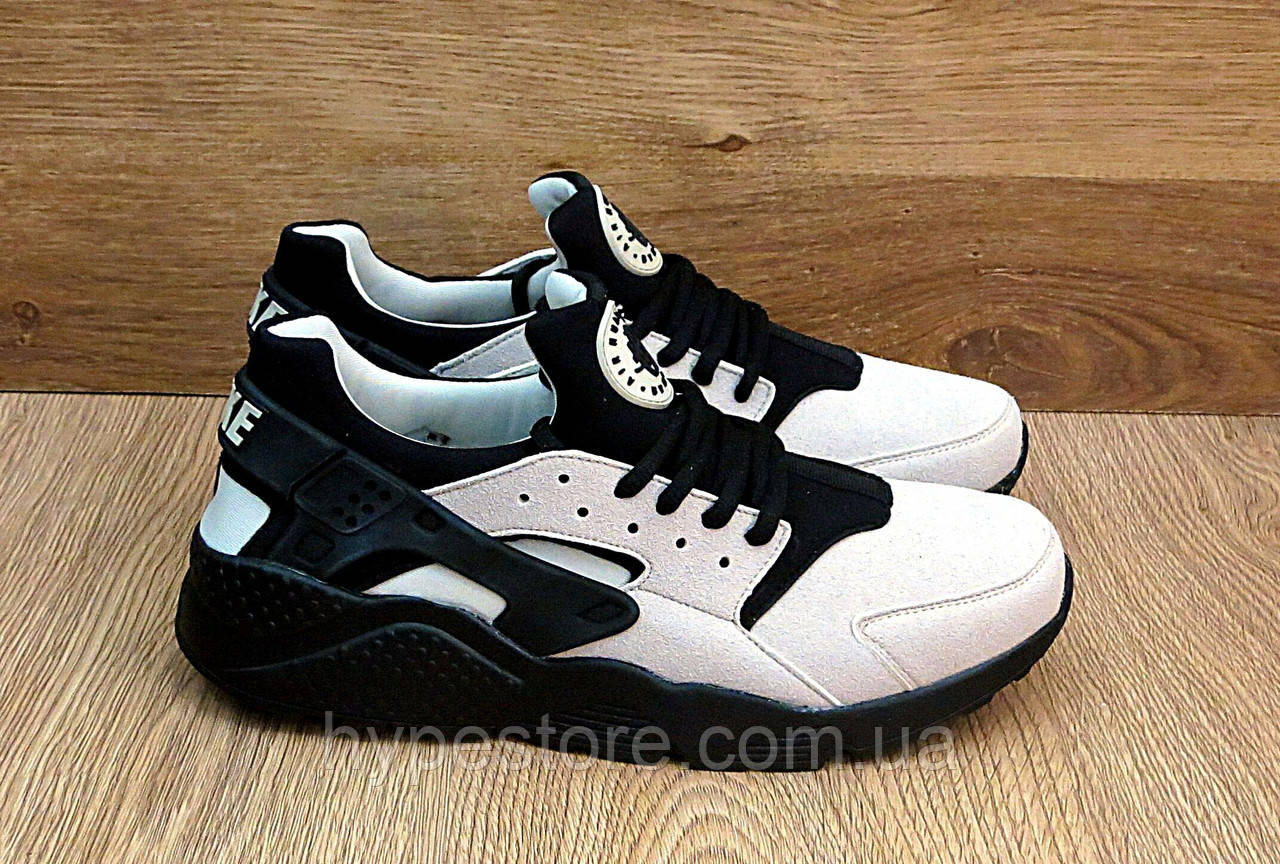 Кроссовки Nike Huarache (бежевые) Найк Хуарачи 46р. ПОСЛЕДНИЙ РАЗМЕР, Реплика