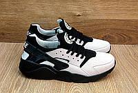 Кроссовки Nike Huarache (бежевые) Найк Хуарачи 46р. ПОСЛЕДНИЙ РАЗМЕР, Реплика, фото 1