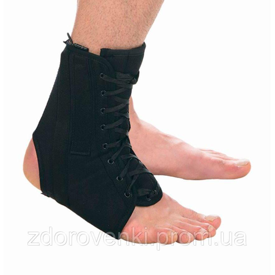 Фиксатор голеностопного сустава на шнуровке с ребрами жесткости т-8608/1 воспаление сустава мопс