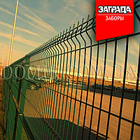 Забор секционный из сварной сетки в ПВХ Заграда