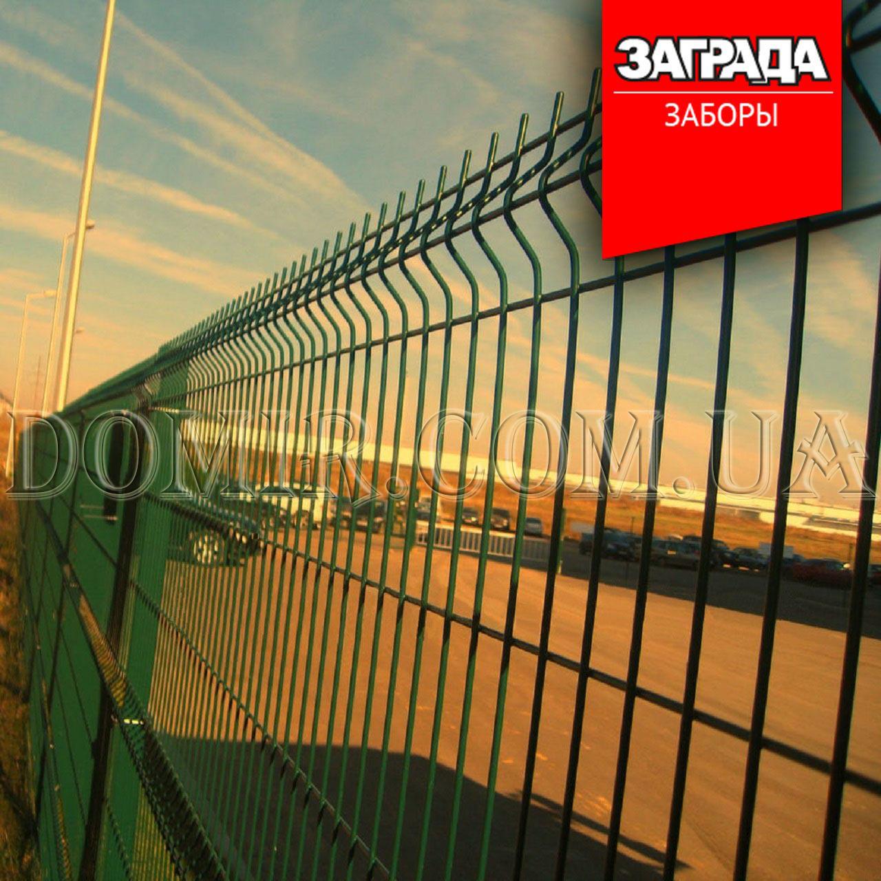 Забор секционный из сварной сетки в полимерном покрытии Заграда™