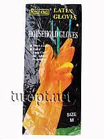 Перчатки латексные размер M желтые