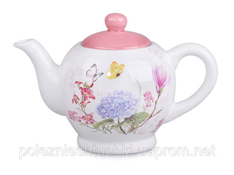 """Чайник заварочный 900 мл. керамический """"Весенний сад"""""""