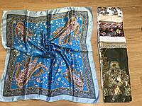 Платки, платок женский головной Шелковый 85*85 см