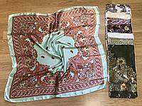 Платок женский- платок Шелковый головной 85*85 см
