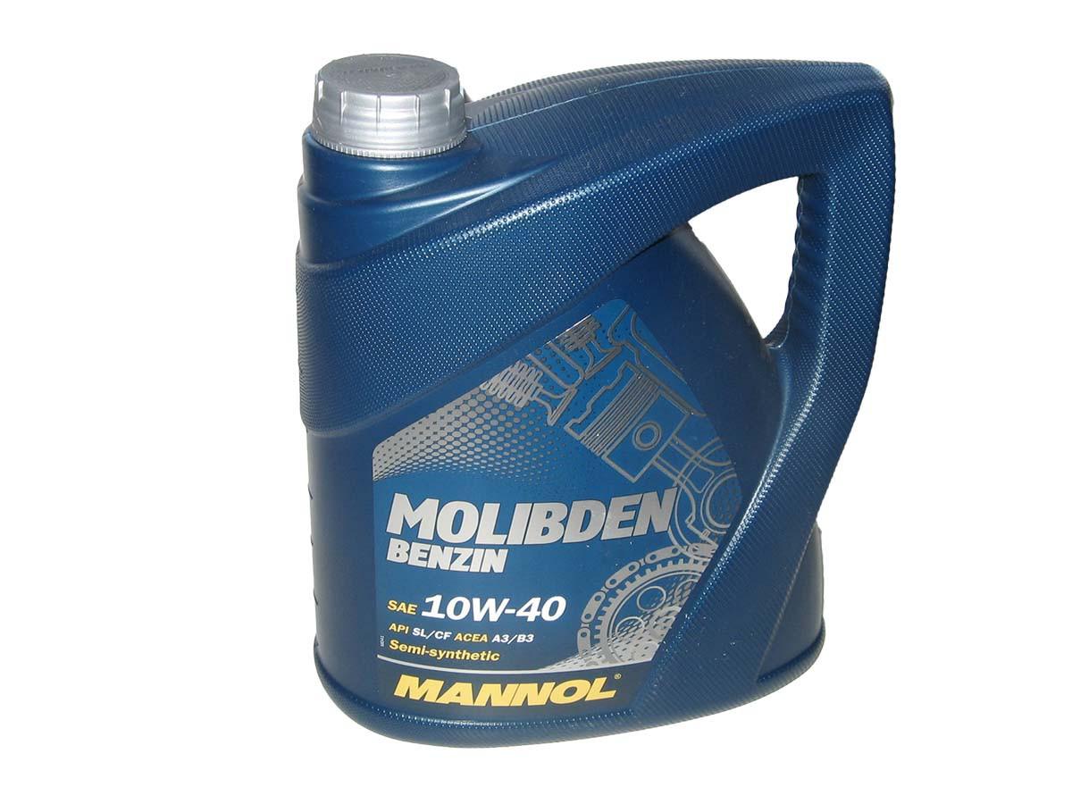 Масло моторное MANNOL Molibden benzin п/синт. 10w40 4L SL/CF