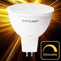 Светодиодная лампа  EUROLAMP ЕКО MR16 5W GU5.3 4000K dimmable