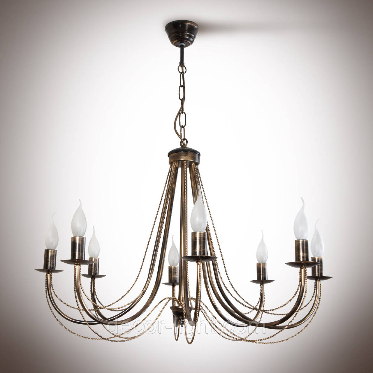 Люстра классическая 8-ми ламповая со свечами 30108-1