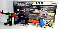 Автомат AK47-4 с гелевыми пулями, присосками и пистолетом