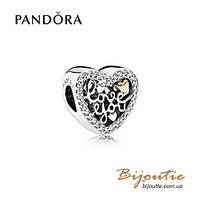 Pandora Шарм ИСТОРИЯ ЛЮБВИ #792037CZ серебро 925 Пандора оригинал
