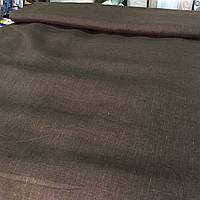 Лён коричневый, ширина 150 см, фото 1