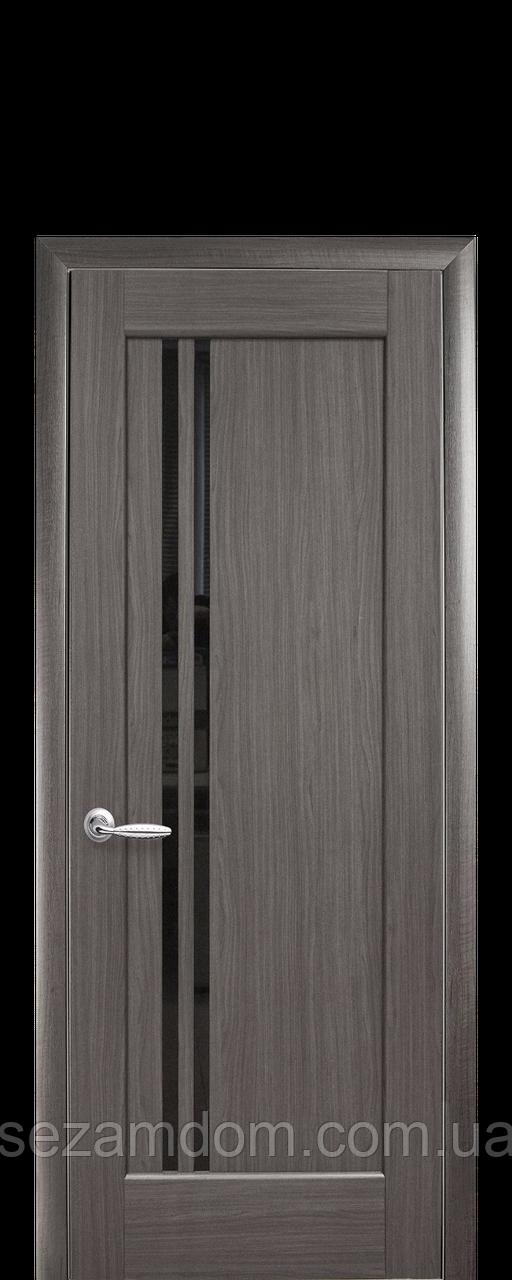Дверь межкомнатная ДЕЛЛИТА С ЧЕРНЫМ СТЕКЛОМ