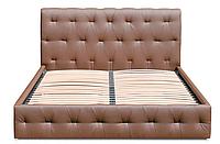 Кровать Фрида 160х200 двуспальная кожаная с мягким изголовьем и подъемным механизмом