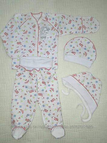 Комплекты для новорожденных, девочек 1842роз. Хлопок-на байке, на выписку,в наличии _56_рост, фото 2