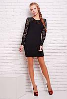 Платье облегающего силуэта ВИВА черное