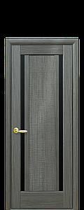 Дверь межкомнатная ЛУИЗА С ЧЕРНЫМ СТЕКЛОМ