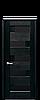 Дверь межкомнатная ПИАНА БЕЛЫЙ МАТ С ЧЕРНЫМ СТЕКЛОМ, фото 2