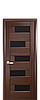 Дверь межкомнатная ПИАНА БЕЛЫЙ МАТ С ЧЕРНЫМ СТЕКЛОМ, фото 4