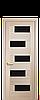 Дверь межкомнатная ПИАНА БЕЛЫЙ МАТ С ЧЕРНЫМ СТЕКЛОМ, фото 5