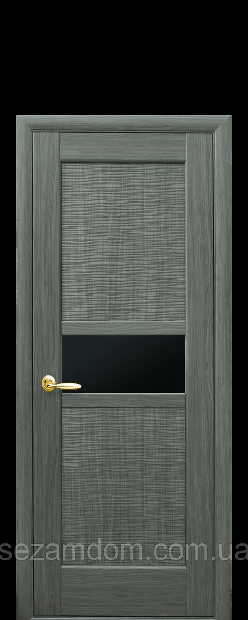 Дверь межкомнатная РИФМА С ЧЕРНЫМ СТЕКЛОМ