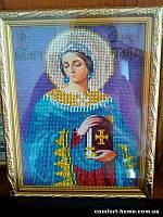 Икона вышита бисером именная Святая Анастасия
