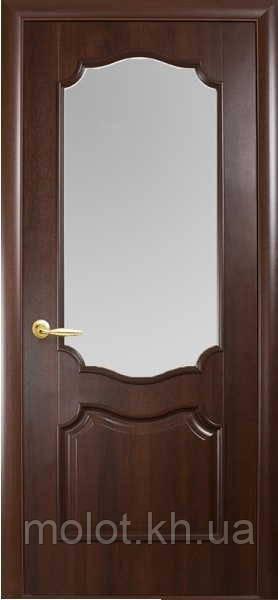 """Межкомнатные двери """" Вензель со стеклом сатин """""""