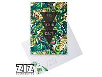 """Открытка """"Пальмовые листья"""". Арт. ZIZ-39010"""