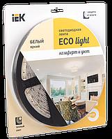 Лента светодиодная LED 5м блистер LSR-3528WW120-9.6-IP65-12V IEK-eco