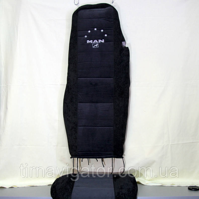 Чохол на сидіння MAN TGA TGX TGM TGL (чорний, вельвет)